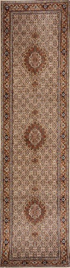 Tabriz 'Part-Silk' (Small Runner) '50 RAJ', Persia, circa 30 years old, wool/part- silk/cotton, approx. 299 x 80 cm