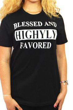 Black Graphic Blessed T Shirt |BZ Fashions