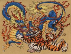 chinese dragon  images | to dragon fight demon or two dragon fight with each other but chinese ...