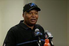 Detroit Lions head coach Jim Caldwell responds to a reporter's question after an NFL football game against the Tennessee Titans, Sunday, Sept. 18, 2016, in Detroit. (AP Photo/Duane Burleson)