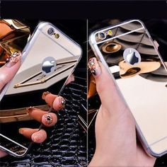 Luxury Metal Aluminum Ultra-thin Mirror Soft Case Cover for Apple iPhone Models Available For : iPhone 6 Plus,iPhone 6,iPhone 5/5s  $2.99 #Iphone