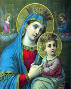 Digital image Virgin Mary & Baby Jesus Icon Antique Lithoprint Beautiful colors UNIQUE by on Etsy Catholic Pictures, Jesus Pictures, Blessed Mother Mary, Blessed Virgin Mary, Christian Images, Christian Art, Religious Icons, Religious Art, Religious Jewelry