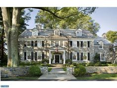 stone Colonial Houses | Home Exterior ~ Stone Colonial Manor-Dream home! | For the Home