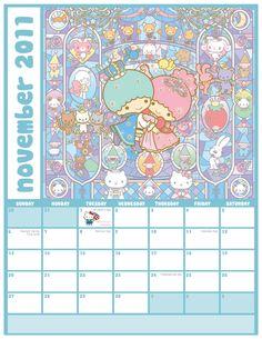 【2011】2011.11 Calendar ★Little Twin Stars★