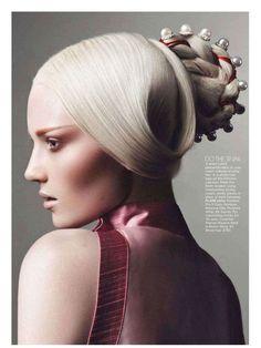 Sci-Fi Geisha Editorials : Flare Magazine 'Japanic Organic'  (Makeup artist Greg Wencel )