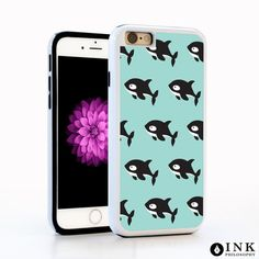 """iPhone 6 / 6s Killer Whale Cell Phone Case, Apple 4.7"""" Protective Animal Blue Cover"""