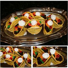 """dessert tacos for april fool's day. the """"meat"""" is chocolate cake crumbles :)"""