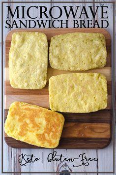 Keto Microwave Sandwich Bread (Paleo, Gluten-Free) - The Harvest Skillet