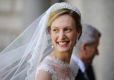 Elisabetta Maria Rosboch von Wolkenstein jour de son mariage avec le prince Amédéo de Belgique