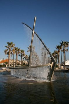 Inspiring Boat Fountain in Valencia, Spain