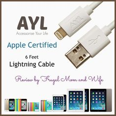 Frugal Mom and Wife: Apple Certified 6 Feet Lightning Cable Review!