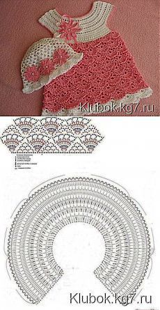 "натали соколова: посты Baby Dress [ ""Child Gown Lindo vestido tejido a crochet Baby Dress"" ] # # # # # # # # # Crochet Toddler Dress, Crochet Baby Dress Pattern, Crochet Fabric, Baby Girl Crochet, Crochet Baby Clothes, Crochet For Kids, Crochet Stitches, Knit Crochet, Crochet Patterns"