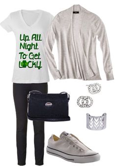 #ootd number one - My Wardrobe: casual outfit, style for St. Patrick's Day #fashion - made the shirt myself ;-)