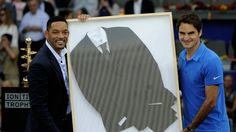 Federer wins the Madrid Open title, along with the 'Men in Black' suit. #tennis