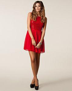 Melanie Open Back Dress - Elise Ryan - Röd - Festklänningar - Kläder - NELLY.COM