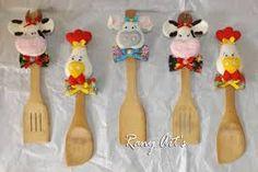 Resultado de imagen para cucharas decoradas con muñecos