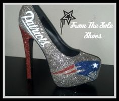 Patriots High Heels  Size 7 by FromTheSoleShoes on Etsy, $125.00
