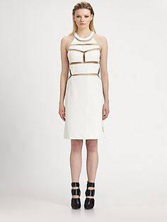 Alexander Wang Cutout Leather Dress