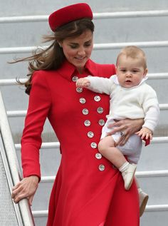 Prins George en Kate Middleton