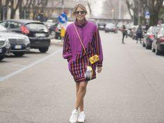 Helena Bordon: Maxi Bomber + Sneakers