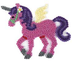 Hama Stiftplatte Pegasusweiß zum Stecken von Pferden und Einhörnern. Maße: ca. 17 x 14,5 cm. Die Midi Bügelperlen von Hama eignen sich für Kinder ab 5 Jahren. Sie haben einen Durchmesser von 5 mm. Die...