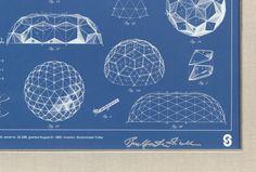 244. A Signed Buckminster Fuller Geodesic Dome Blueprint - September 2013 - ASPIRE AUCTIONS