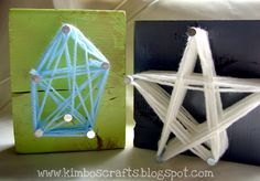 HomeSpunThreads: Day 10: 3D Yarn Art with A Girl and a Glue Gun - yep, we need to do this!