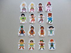 CLEARANCE  It's a Small World  Appliques by AlphabetCityStudio