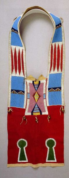 Unknown Nez Perce artist, Bandolier-style horse collar, c. 1880