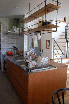 ほぼWeb内覧会?アイアンの吊棚の仕様&オーダーキッチンがほぼ完成の画像 | 家具職人の(ヨメの)北欧シンプルなマイホームへの道