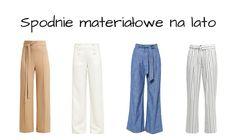 Materiałowe spodnie na lato - TOP 20