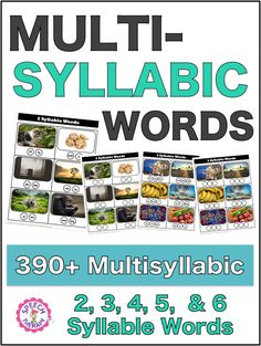 Are you in need of a multisyllabic words list for your students to get practice decoding multisyllabic words for speech therapy? Grab this list. Articulation Activities, Speech Therapy Activities, Language Activities, Speech Language Pathology, Speech And Language, Sign Language, Toddler Speech, Phonics Rules, Reading Intervention