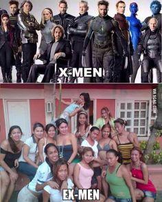 X-Men vs Ex-Men funny picture Memes Pinoy, Memes Tagalog, Pinoy Quotes, Filipino Funny, Filipino Memes, Stupid Memes, Funny Jokes, Hilarious, Tagalog Quotes Hugot Funny