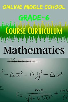Students should have a demonstrable understanding of the concepts covered in Math before enrolling in Mathematics 1. #grade6 #onlineschool #onlinemiddleschool #mathematics