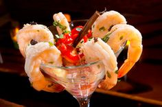 Pickled Carolina Shrimp Cocktail at NEO ~ local farm to table gastropub in Hilton Head Island, SC. #lowcountry