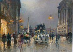 Jahn Ekenae (1847-1920): On the Outskirts of Town Einar Ilmoni (1880-1946) Eugene Galien-Laloue Paintings
