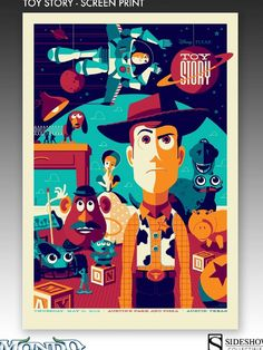 'Toy Story' Poster by Tom Whalen by Mondo #Illustration #Toy_STory #Tom_Whalen #Mondo