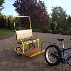 The completed pedicab trailer.