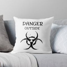DANGER outside !! Get yourself a unique cool  custom desing from RIVEofficial Redbubble shop : )).... tags: #coronavirus #corona #COVID #disease #lockdown #danger #dangeroutside #stayhome #washhands #blackandwhite #corona2020 #keepcalm #isolation #findyourthing #shirtsonline #trends #riveofficial #favouriteshirts #art #style #design #shopping #redbubble #digitalart #design #fashion #phonecases #customproducts #onlineshopping #accessories #shoponline #onlinestore #shoppingonline Pin Pin, Designer Throw Pillows, Home Decor Items, Pillow Design, Great Artists, Funny Tshirts, Cool Pictures, Bed Pillows, Online Shopping