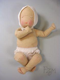 Muñeca bebé de algodón