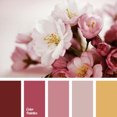 burgundy, color combination, lavender, light pink, magenta, pastel yellow, pink, saffron yellow, selection of color, shades of ash-pink, soft pastel colors, warm yellow, wedding color palette.