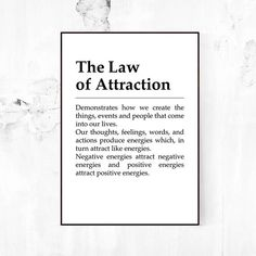 The Law of Attractio