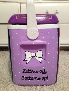 sorority cooler, sorority crafts, sigma kappa