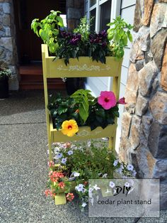 diy planter plant stand painted outdoor plant stand