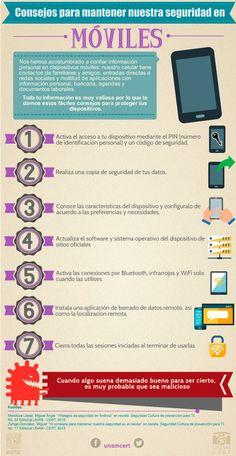 Consejos de seguridad para el móvil #infografia