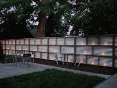 Corrugated fiberglass panels fence