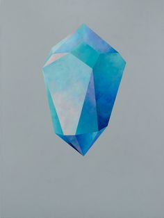 Rebecca Chaperon -  DEEP ICE CRYSTAL #15 Acrylic on Canvas 40˝× 30˝
