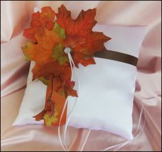 Rustic Wedding Ring Pillow  Wedding Pillows Fall by All4Brides, $45.00