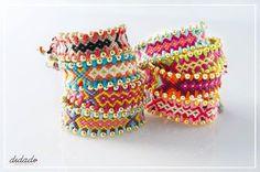 at © Vicky Lafazani Braided Bracelets, Friendship Bracelets, Diy Jewelry, Boho, Orange, Pattern, Gifts, Necklaces, Ideas