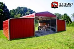 2 Stall Horse Barn Layouts | Stall Barn Price - Horse Barn | The Barnyard : Steel BarnsThe ...